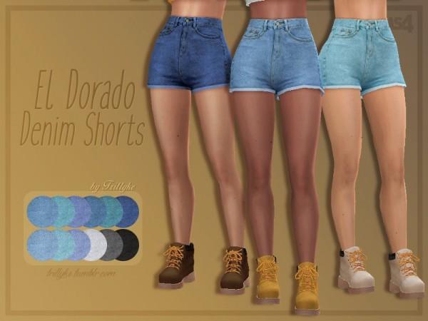 The Sims Resource: El Dorado Denim Shorts by Trillyke