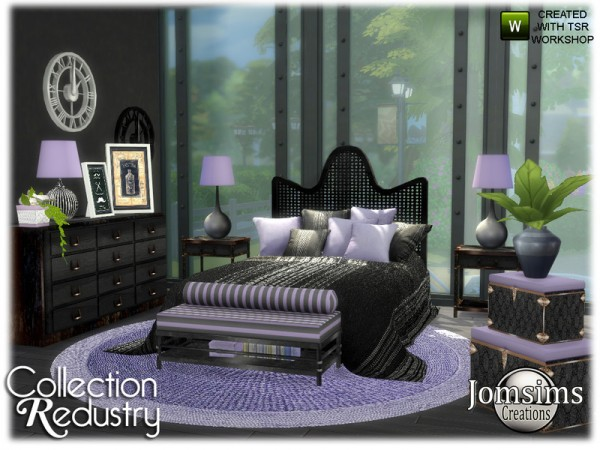 The Sims Resource: Redustry bedroom by jomsims