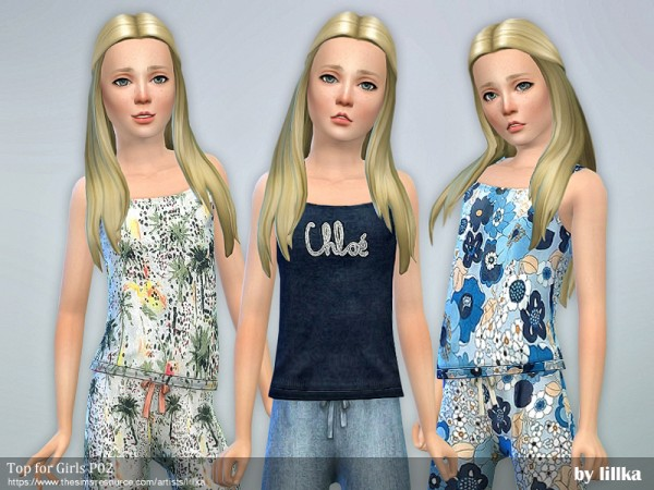 The Sims Resource: Top for Girls P02 by lillka