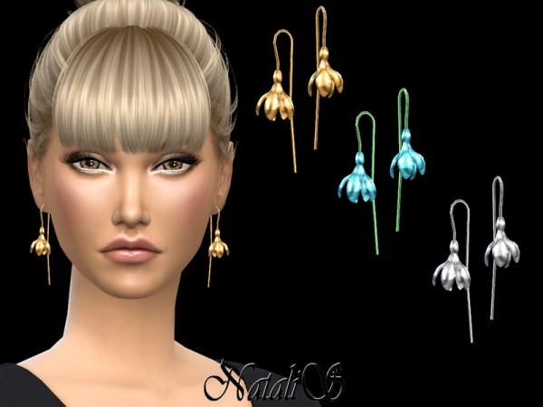 The Sims Resource: Spring flower earrings by NataliS