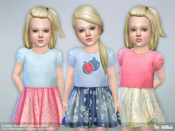 The Sims Resource: Toddler Dresses Collection P53 by lillka