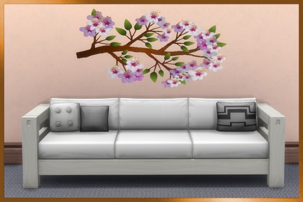 Blackys Sims 4 Zoo: Spring Wall Tattoos 1 by weckermaus
