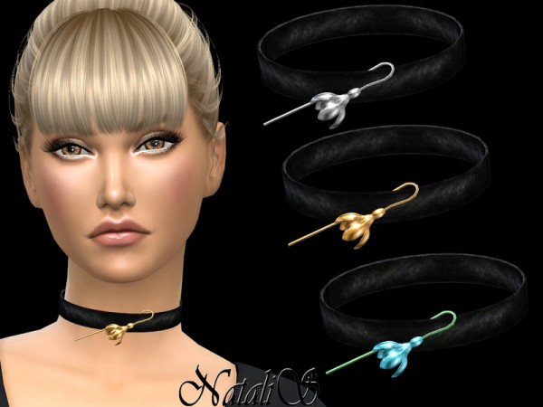 The Sims Resource: Spring flower choker by NataliS