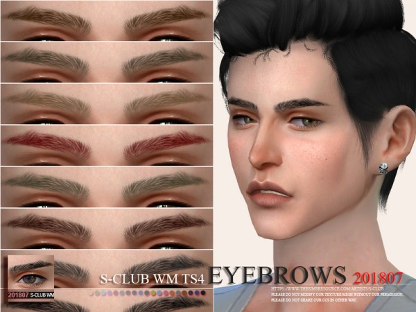 The Sims Resource: Eyebrows 201807 by S Club