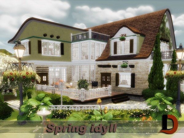 The Sims Resource: Spring idyll house by Danuta720