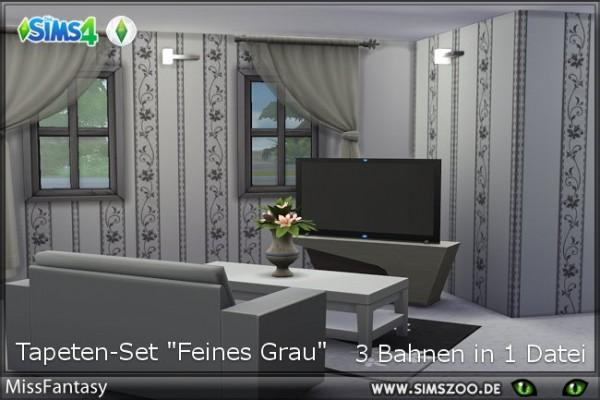 Blackys Sims 4 Zoo: Fine gray walls by MissFantasy