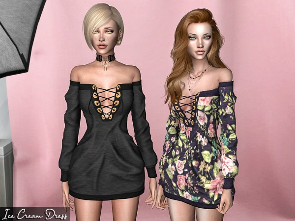 The Sims Resource: Ice Cream Dress by Genius666