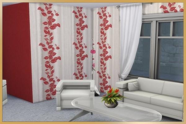 Blackys Sims 4 Zoo: Noble red walls by MissFantasy