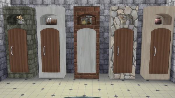 Simsworkshop: Le Morvan Kitchen Fridge by Beta BigUglyHag