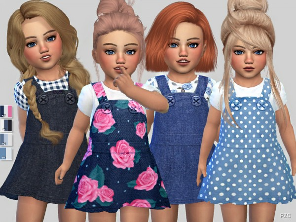 The Sims Resource: Denim Toddler Dress Collection by Pinkzombiecupcakes