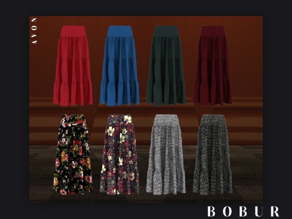 The Sims Resource: Avon skirt by Bobur