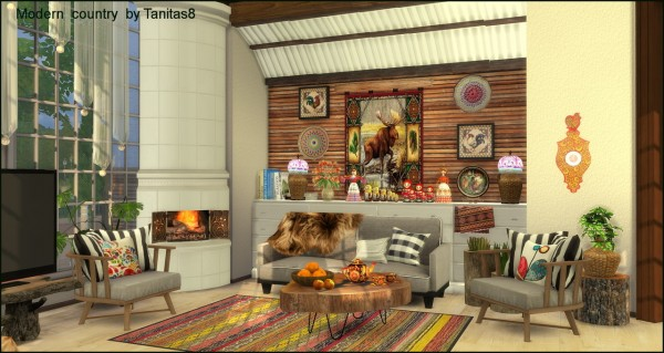 Tanitas Sims: Modern house in country style