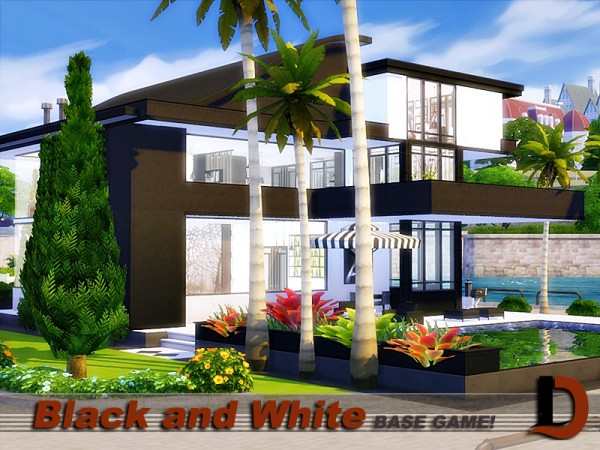 The Sims Resource: Black and White house by Danuta720