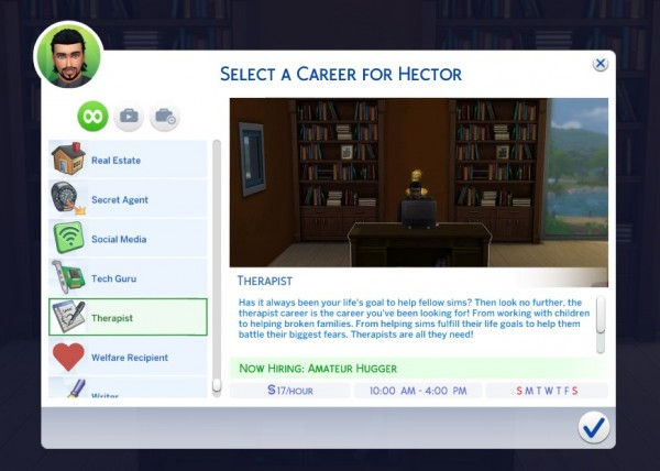 Mod The Sims: Therapist Career by Satira