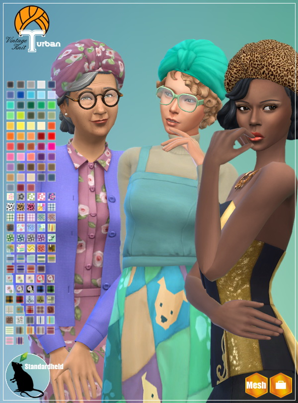 Simsworkshop: Vintage Knit Turban by Standardheld
