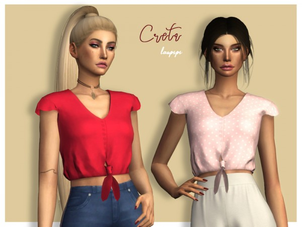The Sims Resource: Creta Top by laupipi