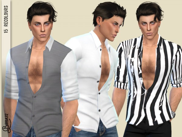 The Sims Resource: Alex shirts by Birba32