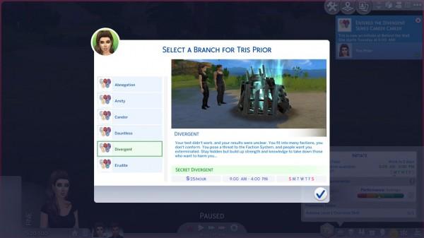 Mod The Sims: Divergent Series Career by DiamondVixen96