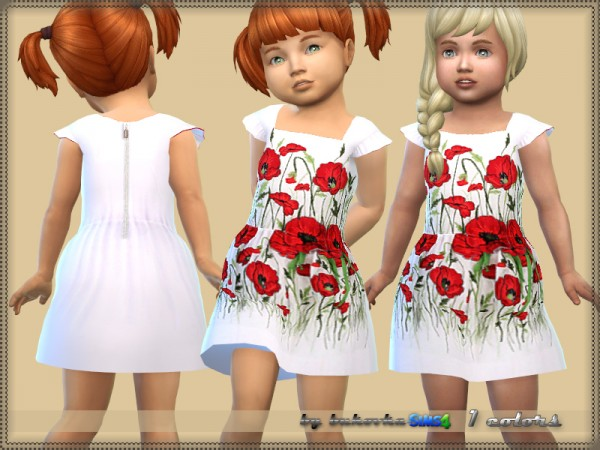 The Sims Resource: Dress Poppies by bukovka