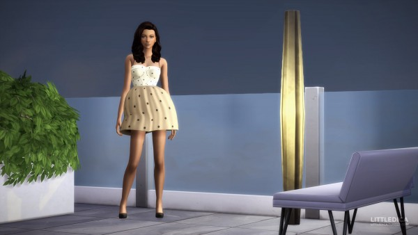 Mod The Sims: Ariana Grandes No Tears Left To Cry Outfit Inspired Dress by littledica