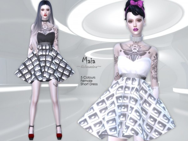 The Sims Resource: MAIA   Short Dress by Helsoseira