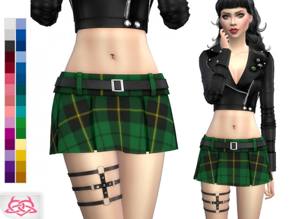 The Sims Resource: Garter Goth 1 by Colores Urbanos