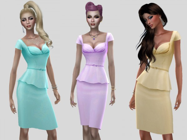 The Sims Resource: Florence dress by Simalicious