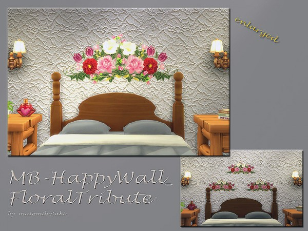 The Sims Resource: Happy Wall FloralTribute by matomibotaki