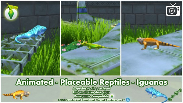 Mod The Sims: Animated   Placeable Reptiles   Iguanas by Bakie