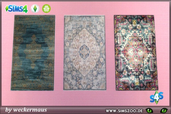 Blackys Sims 4 Zoo: American Townhouse rugs by weckermaus