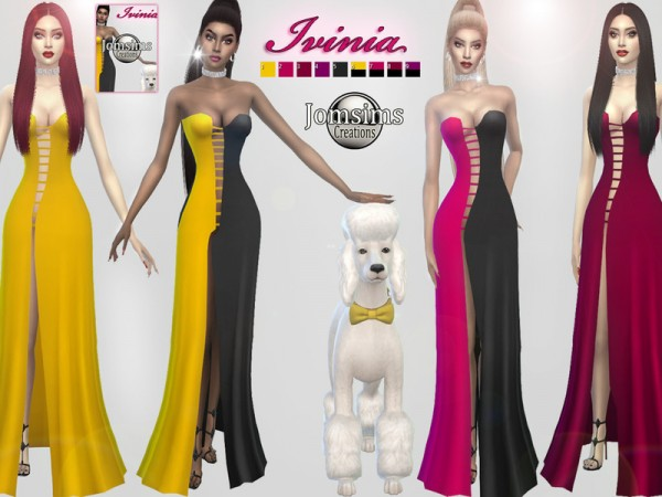 The Sims Resource: Ivinia dress by jomsims