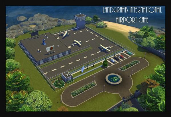 Mod The Sims: Landgraab International Airport Cafe Lot   NO CC by Simmiller