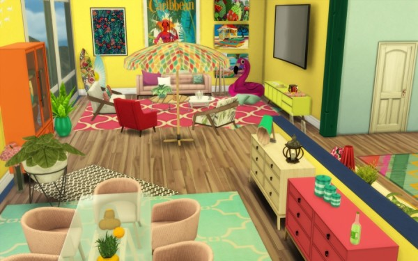 Sims Artists: Tropic appart