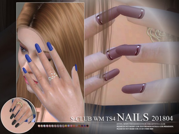 The Sims Resource: Nails 201804 by S Club