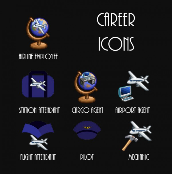 Mod The Sims: Airline Employee Career   6 Career Tracks by Simmiller