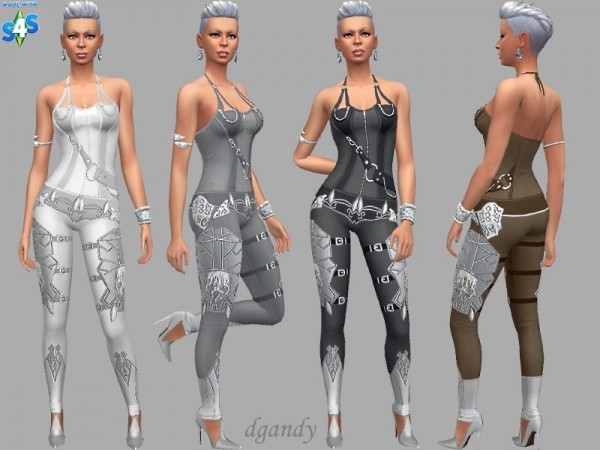 The Sims Resource: Futuristic Jumpsuit by dgandy