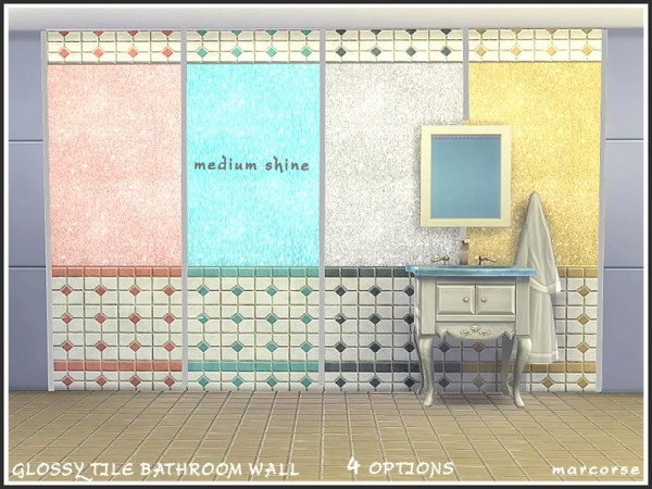 The Sims Resource: Glossy Tile Bathroom Wall by marcorse