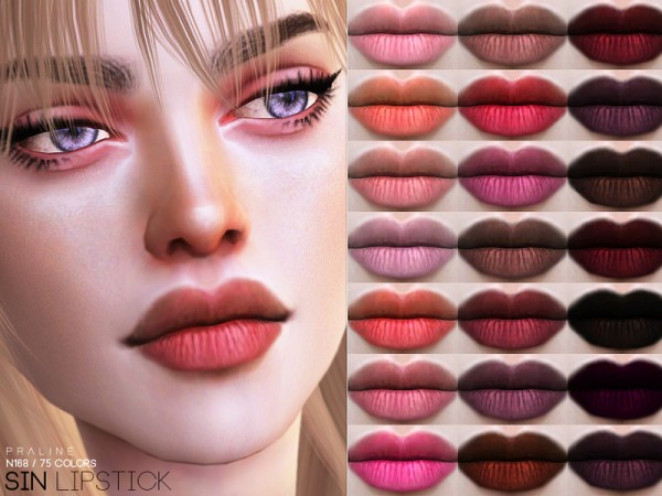 The Sims Resource: Sin Lipstick N168 by Pralinesims