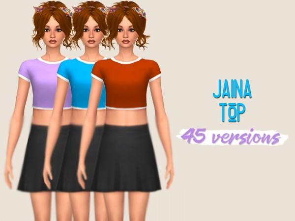 Simsworkshop: Jaina Top by midnightskysims