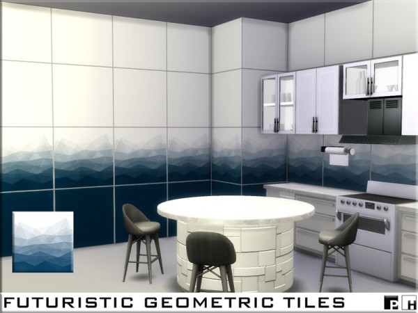 The Sims Resource: Futuristic Geometric Tiles by Pinkfizzzzz