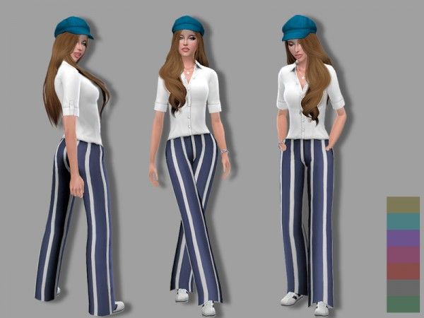 The Sims Resource: Nautical outfit by Simalicious