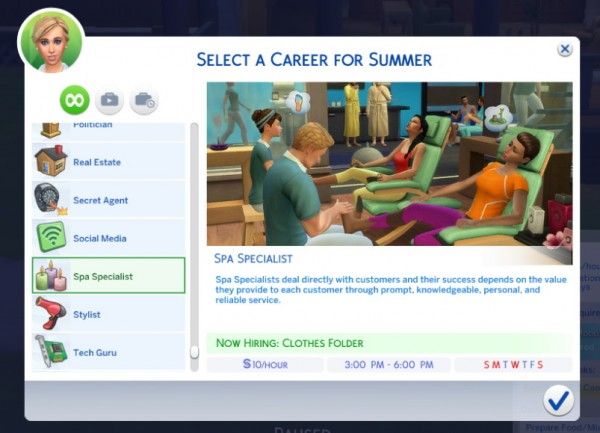 Mod The Sims: Part time Spa Career by Sims Lover