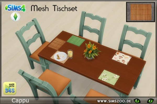 Blackys Sims 4 Zoo: Table mat by Cappu