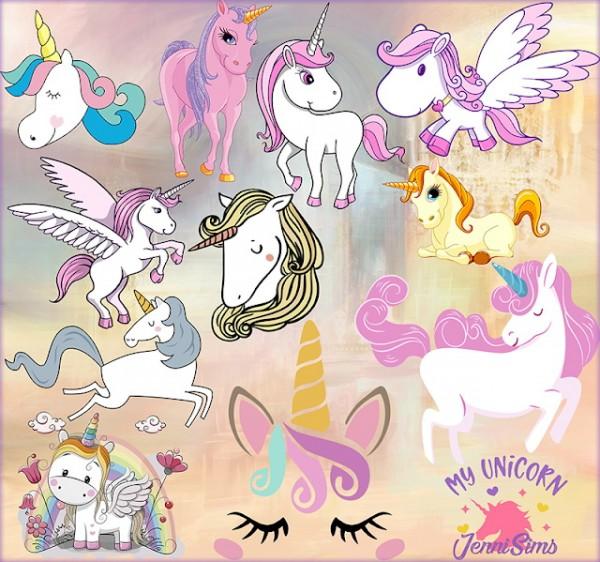 Jenni Sims: Wall Art Unicorns