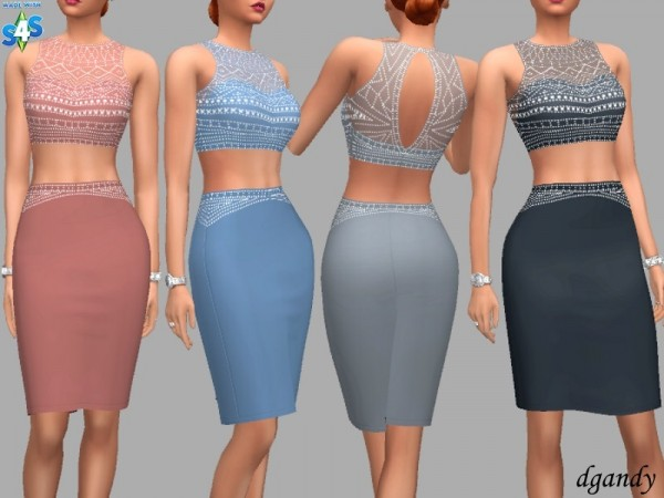 The Sims Resource: Formal dress Hannah by dgandy