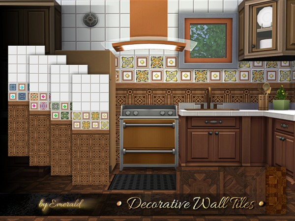 The Sims Resource: Decorative Wall Tiles by emerald