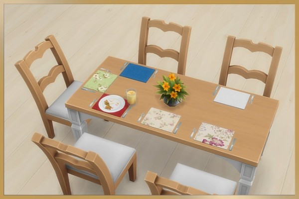 Blackys Sims 4 Zoo: Placemat with cutlery