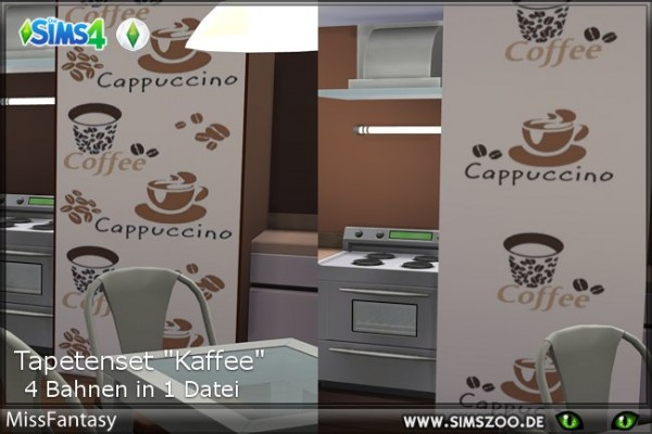 Blackys Sims 4 Zoo: Kaffee walls by MissFantasy
