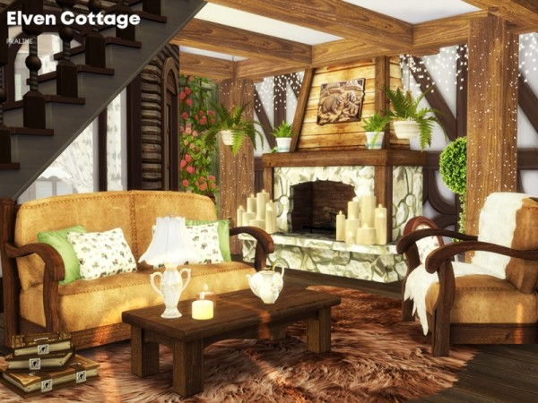 The Sims Resource: Elven Cottage by Pralinesims • Sims 4 Downloads