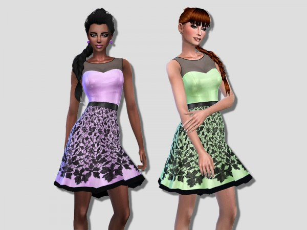 The Sims Resource: Emylie dress by Simalicious